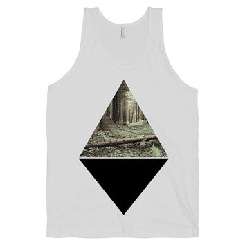 Nature Fashion - Diamonds, Trees, Hipster, Design, Womens, Mens, Tanks, Tops, Shapes, Retro, Urban, Creative, American Apparel