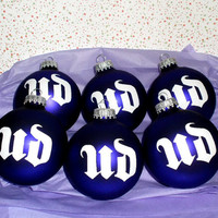 UD Urban Decay Cosmetics Makeup 6PC Glass Ornament Set