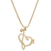 Heart Treble Clef Necklace