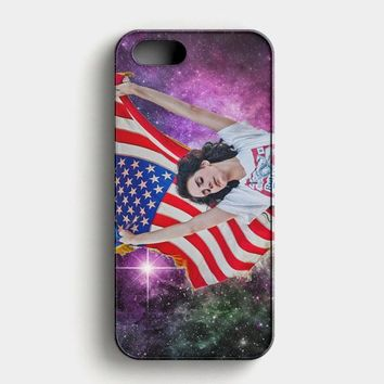 Usa Flag On Nebula Nike Lana Del Rey iPhone SE Case