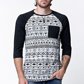 On The Byas - Star Wars Jacquard Henley T-Shirt - Mens Shirt - Black
