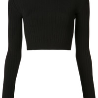 Cushnie Et Ochs Laced Back Cropped Top - Farfetch