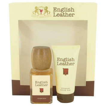 ENGLISH LEATHER by Dana Gift Set -- 3.4 oz Cologne Splash + 2.5 oz After Shave Balm