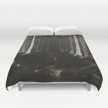 Season of the Land - Haunted Forest Duvet Cover by michael jon