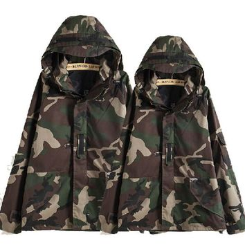 Fall-Tactical Camouflage Jacket Men Women Plus Size Camo Hooded Windbreaker Jackets Military Canvas Jacket Parka Fashion Streetwear