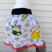 POKEMON TuTu Skirt your size from repurposed fabric from PoppysWickedGarden