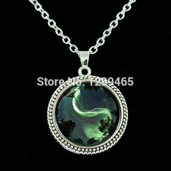 Chinese Taoism sign ancient Eight Diagrams Chakra  necklace Yin Yang pendant  Tao TAIJI statement choker necklace  N 062