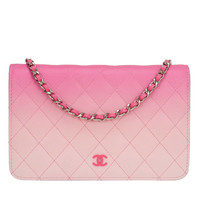Chanel Bi-Color Pink Quilted Lambskin Wallet On Chain (WOC)