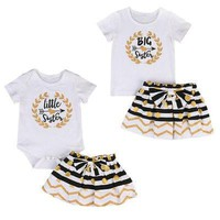 Big & Little Sisters Matching Outfits, 2 pcs