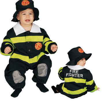 Toddler Costume: Baby Firefighter Bunting | 9M-12M
