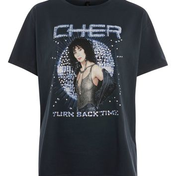 Cher Diamante T-Shirt by And Finally - T-Shirts - Clothing