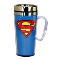 SUPERMAN INSULATED BLUE TRAVEL MUG WITH