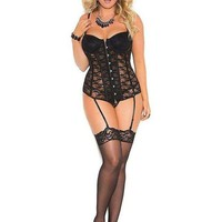 Elegant Moments EM-4140 Lace bustier with underwire cups