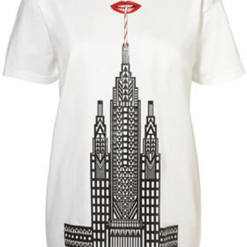 Lips Graphic Tee by Holly Fulton** - Jersey Tops  - Apparel