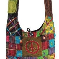 Shangri-La Nook Cotton crossbody Peace Gypsy Bag Handmade in Nepal
