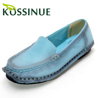Women flat genuine leather shoes new handmade spring autumn casual shoes soft work shoes comfortable flat women's shoes loafers