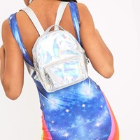 Lacie Silver Holographic Backpack