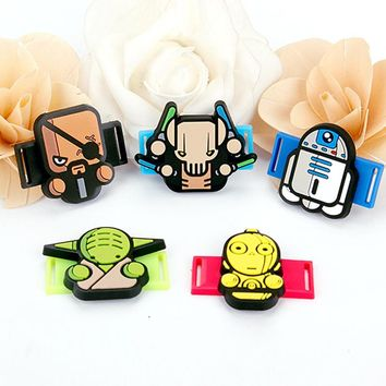 Creative Cartoon Star Wars PVC Shoe Shoelace Accessories Shoe Decoration Fit For Children Birthday Party Gifts
