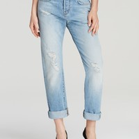 J Brand Jeans - Sonny Rolled Cuff Boyfriend in Blissful