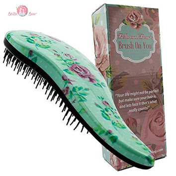 Hair Brush By Bella & Bear, the Best Detangling Brush for Wet or Dry Hair, great for adults and kids, no mores tangles for anyone.