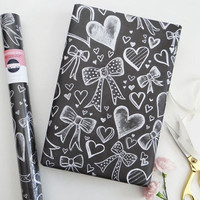 Specialty Wrapping Sheets - Hearts & Bows