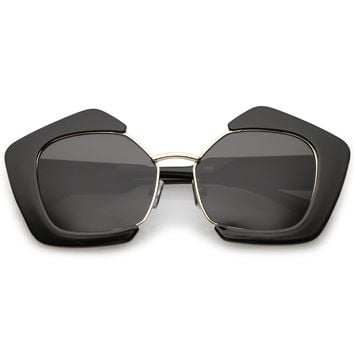 Geometric Pentagon Cut Out Sunglasses - Shop Jeen - powered by Hingeto