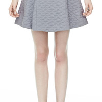THEORY Swick Q Skirt in Fazzuro Cotton Silk Blend