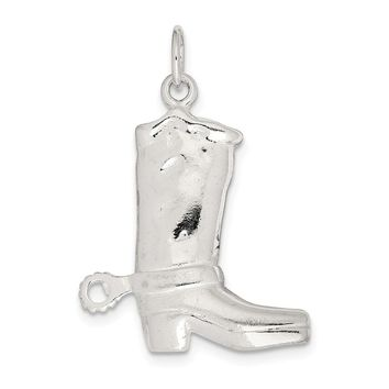 Sterling Silver Cowboy Boot Charm
