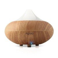 Aglaia 100ml Oil Diffuser with Color Changing Lights and Auto Shut-off Function, Light Brown