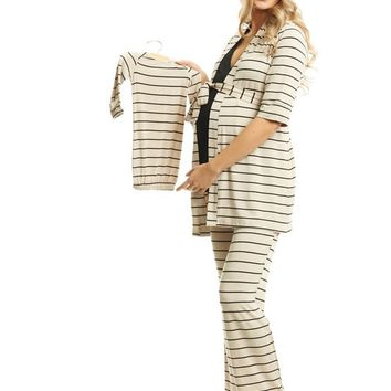 Roxanne 5-Piece Maternity & Nursing PJ Set