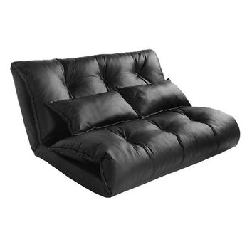Vegan Leather Lazy Sofa Bed by Merax