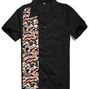 Candow Look 2017 New Designs Top Brand Cotton Cute Casino Print Rockabilly Hiphop Vintage 40s 50s American Club Panel Shirts