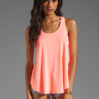 Splendid Vintage Whisper Tank in Neon Coral from REVOLVEclothing.com