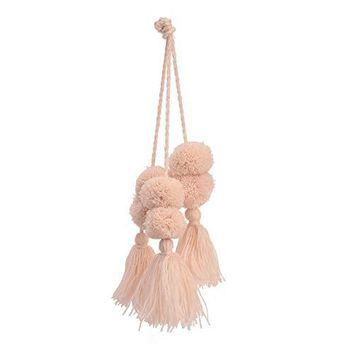 BLUSH POM POM TASSEL BAG CHARM