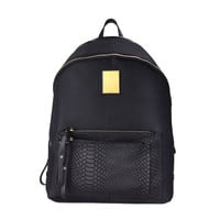 DUDU LADUN LEATHER STRAP BACKPACK