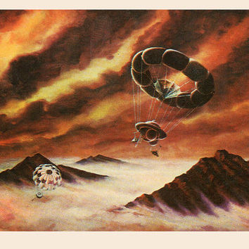 The Atmosphere of Venus (Artist A. Sokolov) Vintage Postcard - Printed in the USSR, «The Fine Arts», Moscow, 1980