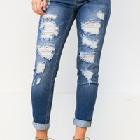 Chic Boyfriend Ripped Jeans