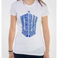 Dr. Who 'Tardis' Junior Fitted Tee