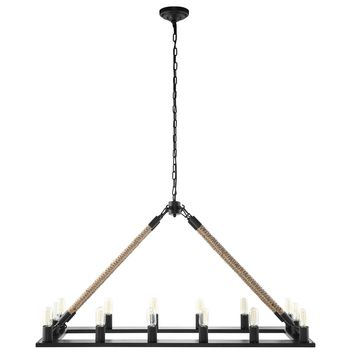 Bridge Chandelier Black EEI-1573
