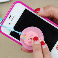2pcs/lot Cute Cute Cartoon Animals Dust plug And Screen Wipe Dual purpose For Iphone For Samsung And All 3.5mm Earphone DustPlug