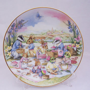 Vintage Little Nook Village, The Picnic, by Leonardo, Vintage Home Decor, UK Seller