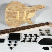 Pit Bull Guitars IB-6S Electric 6-String Bass Guitar Kit (Spalted Maple)