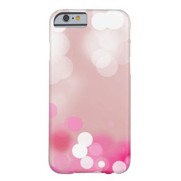 Pretty Light dots Pink Girly Glitter Pattern Barely There iPhone 6 Case