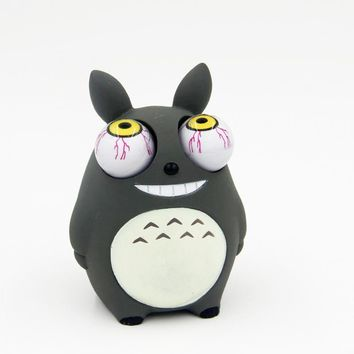 Crowded eyes antistr Totoro Squishy Toy Zombie Novelty Fun Anti Stress Funny Spoof Christmas Halloween Toys JY46