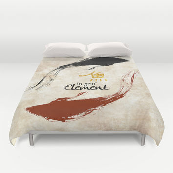 Having Fun Duvet Cover by Miss L In Art