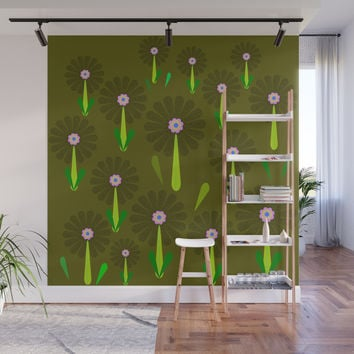 zappwaits Flower Wall Mural by netzauge