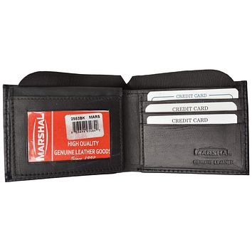 Mens Key ID Holder Soft Leather Bifold Wallet 2553
