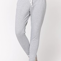 LA Hearts Athletic Striped Jogger Pants - Womens Pants - Gray