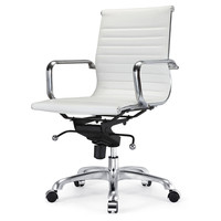 Due Office Chair, White, Desk Chairs