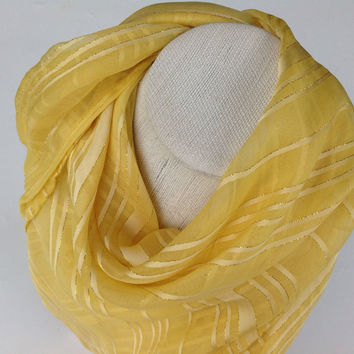 Summer Yellow silk square shawl, Colorful silk chiffon, Holiday gift, Happy Gift for her, Christmas Gift for her, Festive Fashion